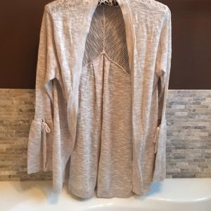 Light weight sweater jacket size M
